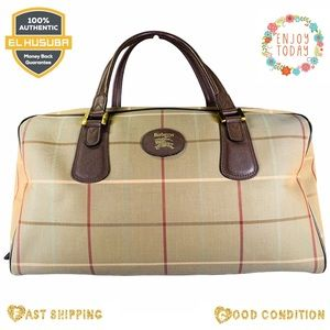 Burberyy satchel travel bag canvas carry